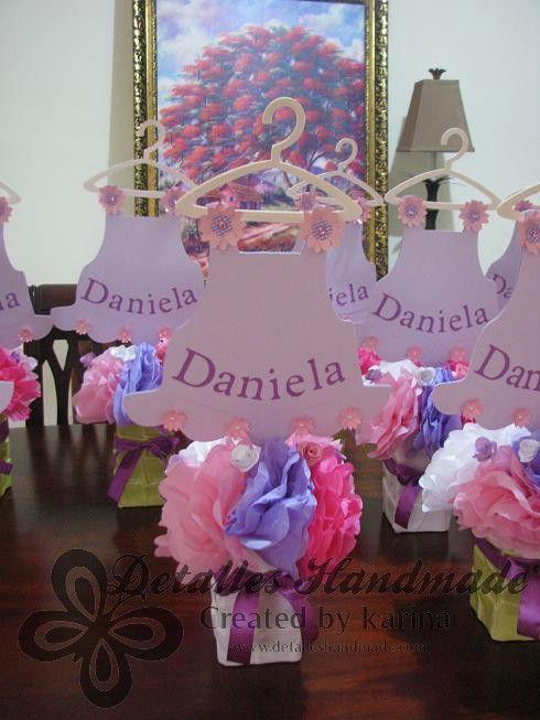 Karina nebot centros de mesa fiestas pinterest baby - Decoracion baby shower nina sencillo ...