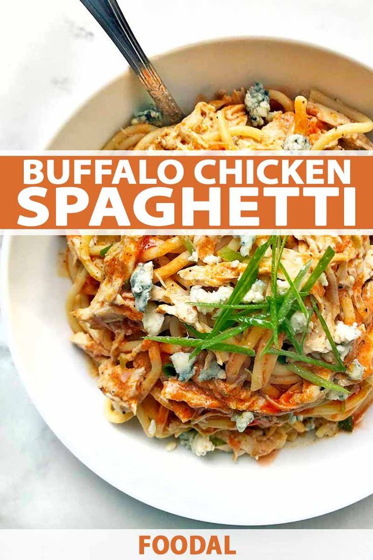 Buffalo chicken spaghetti recipe food recipes chicken