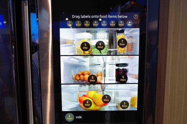 samsung refrigerator touch screen. samsung family hub refrigerator, älyjääkaappi refrigerator touch screen 0