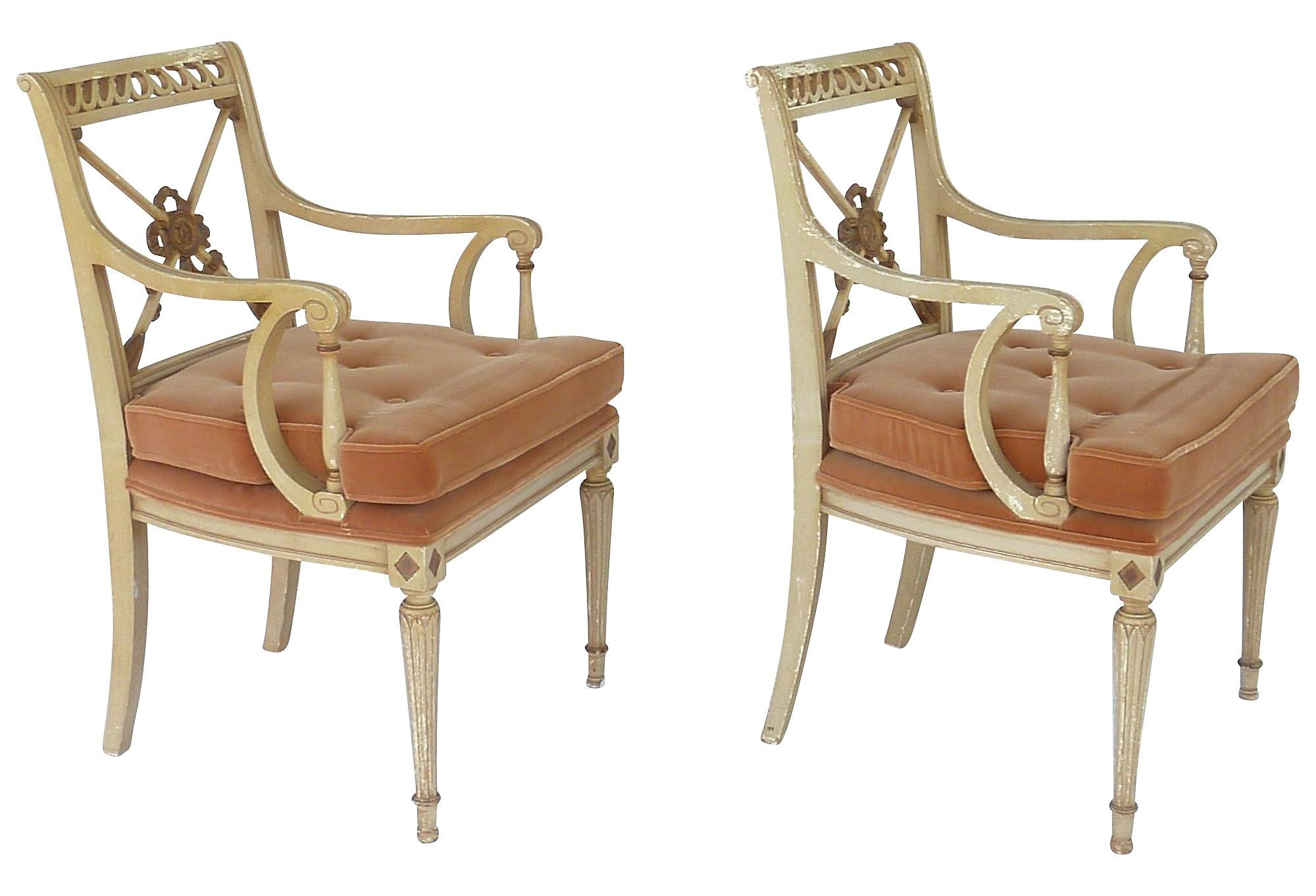 one kings lane chairs posture improving chair neoclassical pair vintage