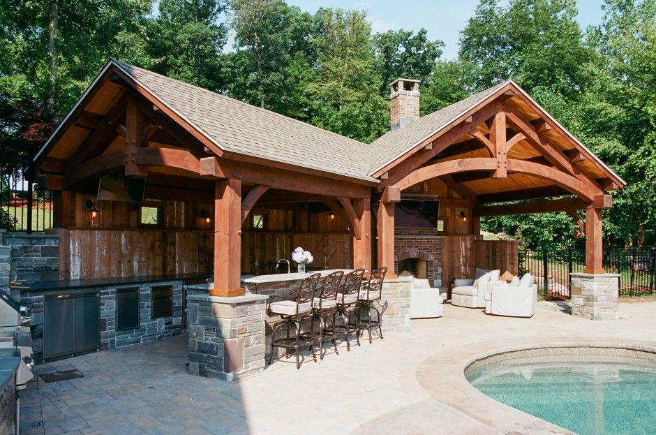 Custom Timber Frame Pool House: The Barn Yard & Great Country Garages