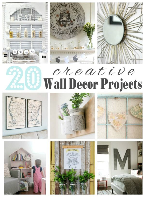 20 Creative Wall Décor Ideas Get Your Diy On Features Confessions Of A Serial Do It Yourselfer