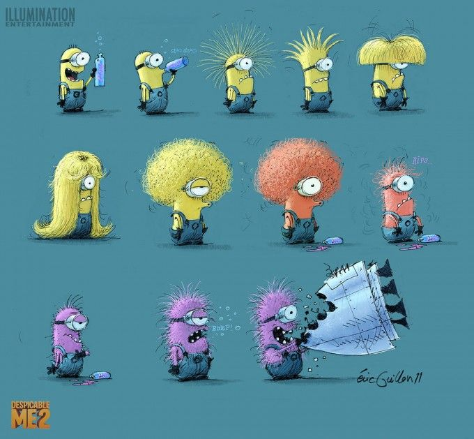 Despicable Me 2 Concept Art and Illustrations by Eric Guillon