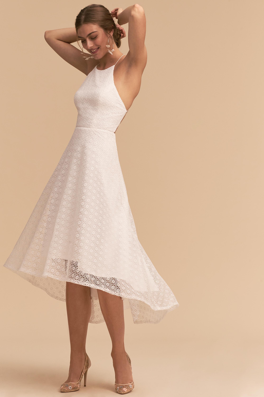 Carter Dress From Bhldn White Bridal Shower Wedding Dresses Little