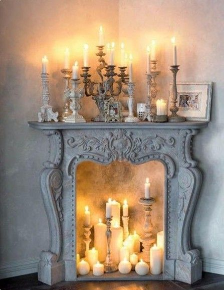 Candles inside fireplace also decor ideas pinterest home rh za