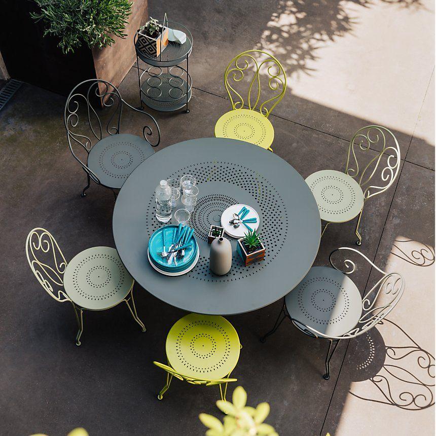 Ensemble de chaises et table Fermob table de jardin tendance très ...