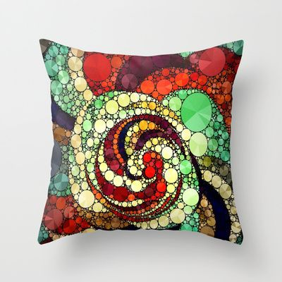 Crazy Abstract Pattern  Throw Pillow by Amy Anderson  - $20.00