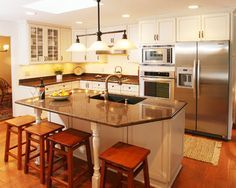odd shaped kitchen islands - Google Search | Bar Great room ...