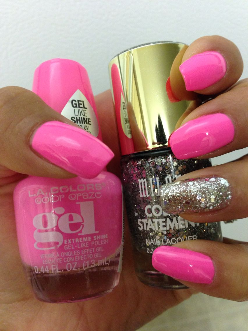 LA Colors Gel like polish in the color Daring and Milani color ...