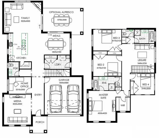 The Norwich - The standard plan Huxley Homes