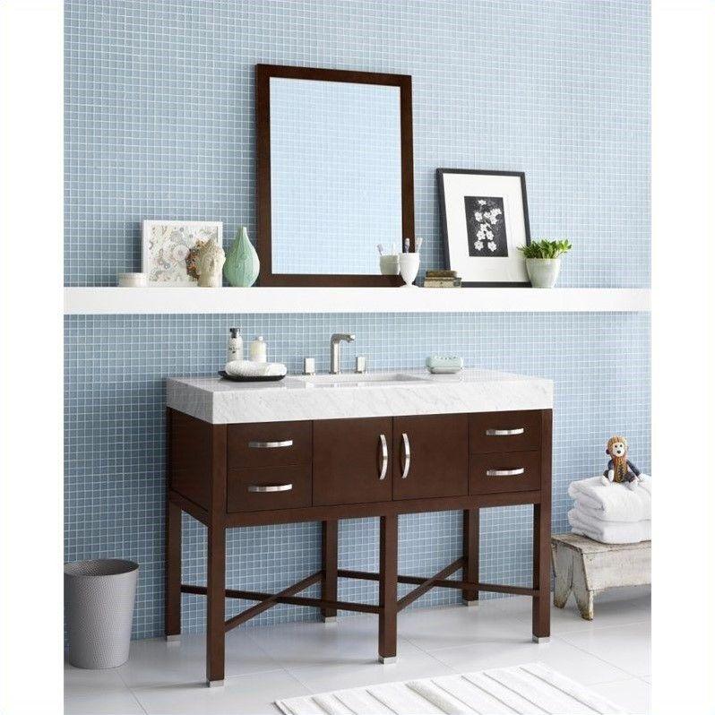 Inspiration Web Design Ronbow Haley Single Bathroom Vanity with Mirror in Dark Cherry