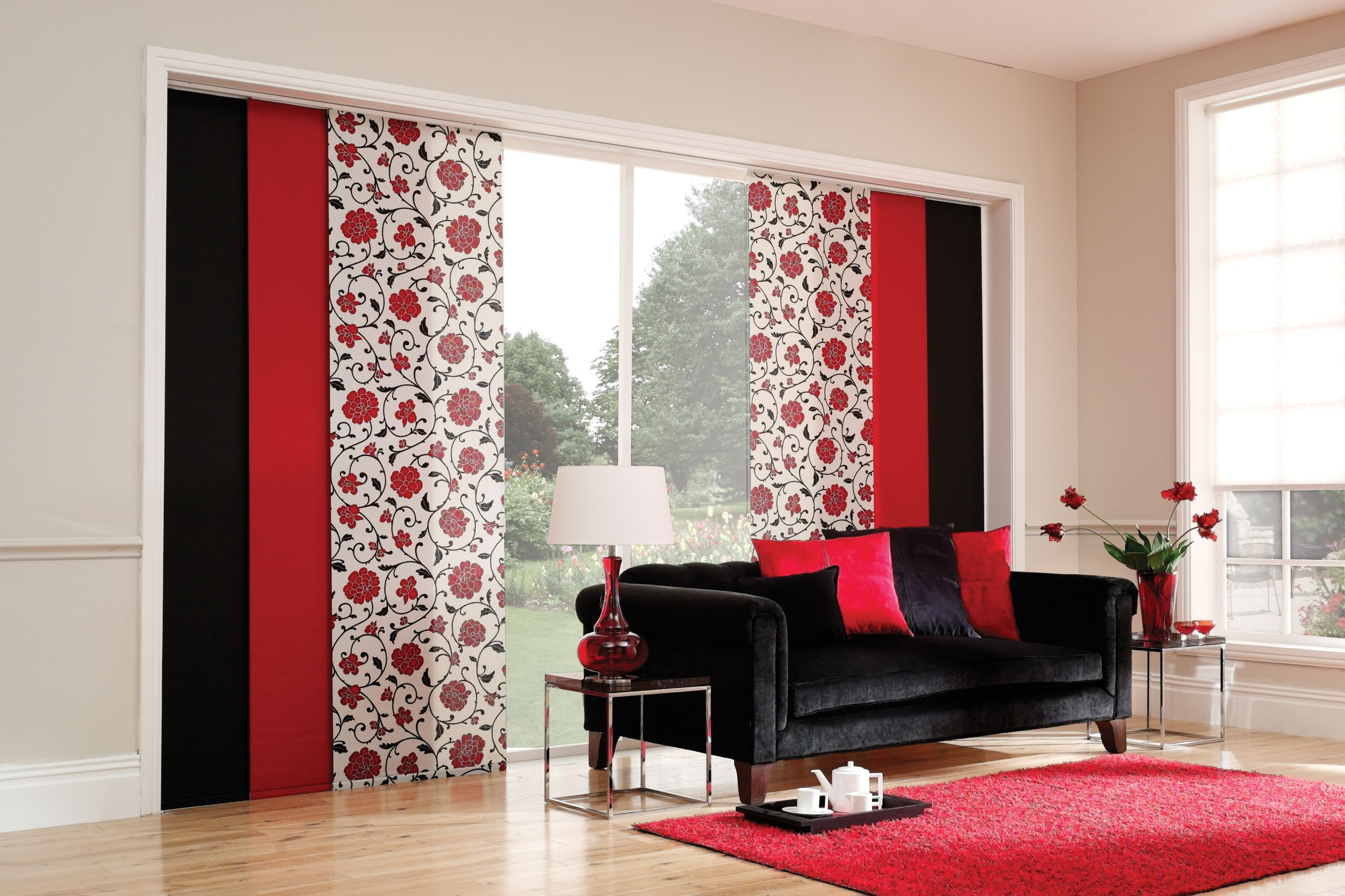 Panel blinds are the modern alternative to vertical blinds. Ideal ...