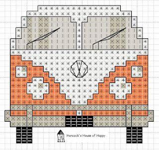 VW Van cross stitch chart by Hancock's House of Happy
