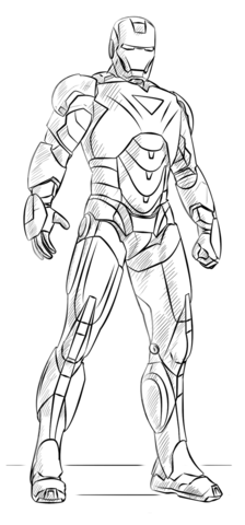 Iron Man Coloring Page Free Printable Coloring Pages Iron Man Art Drawing Superheroes Iron Man Drawing