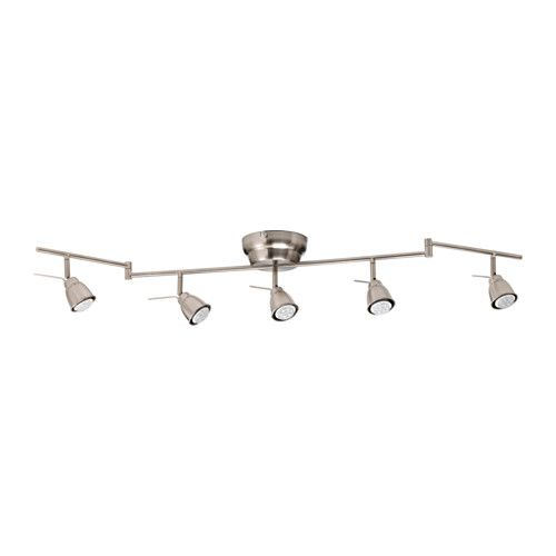 Barometer Ceiling Track 5 Spots Nickel Plated Ikea Flexible Track Lighting Ceiling Lights Track Lighting Kitchen