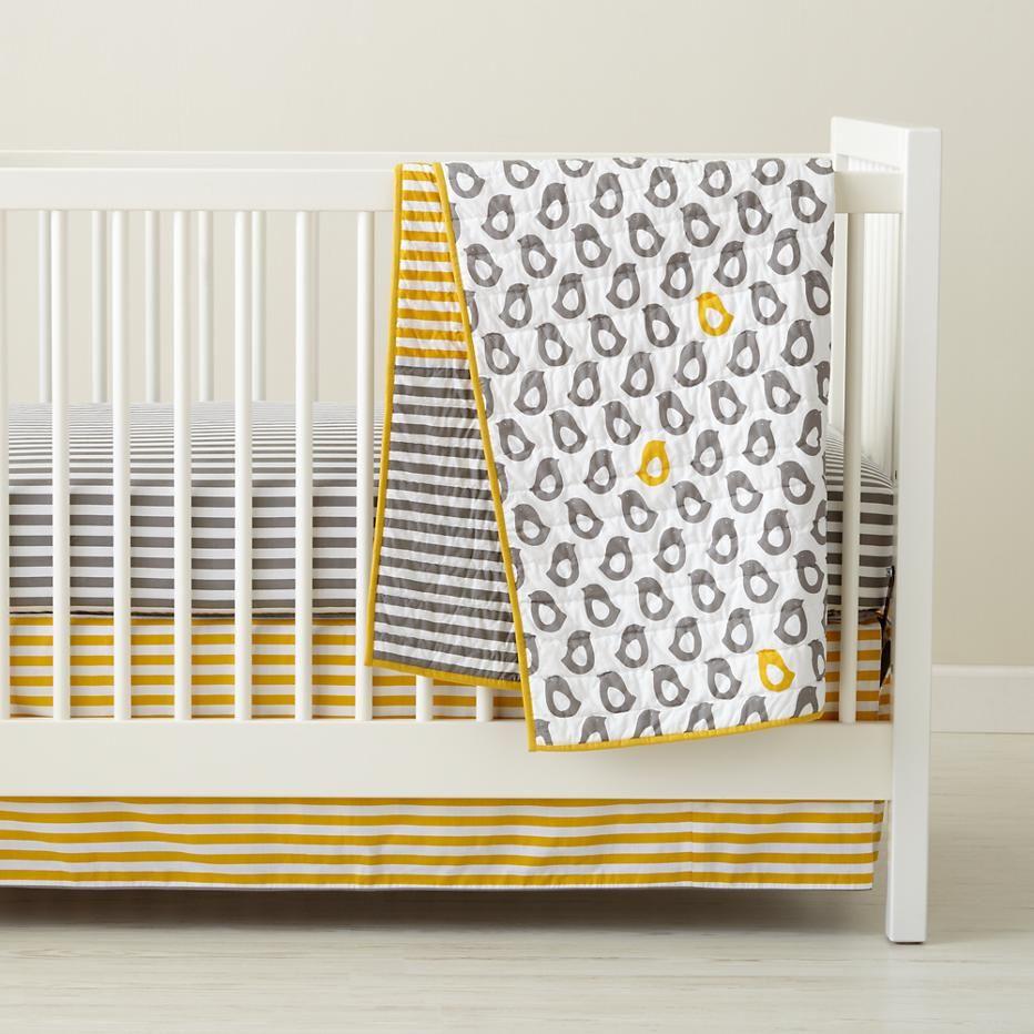 Baby crib yellow - Concept Gray White Yellow Turquoise Nursery Land Of Nod Http