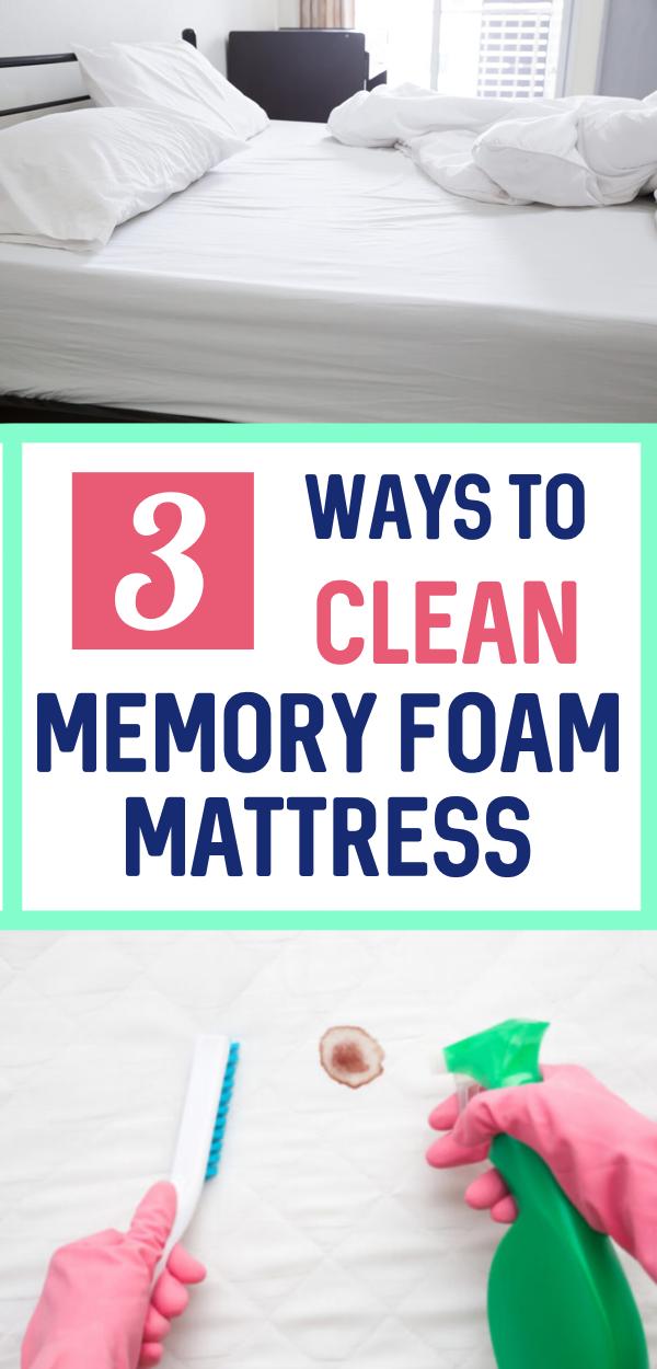 How To Clean Memory Foam Mattress In 2020 Clean Memory Foam Mattress Mattress Cleaning Memory Foam Mattress