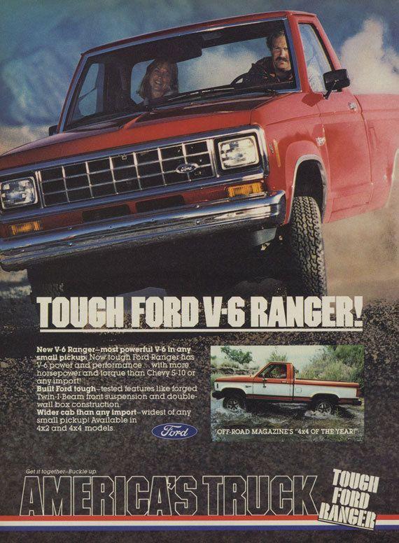 1983 Ford V 6 Ranger Truck Ad Vintage Truck By Advintagecom Ford