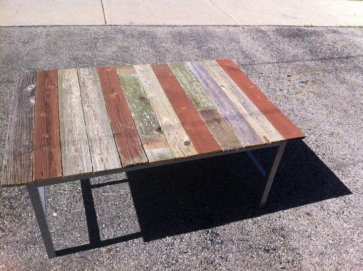Custom made barnwood coffee table end table sofa on Krrb. $200