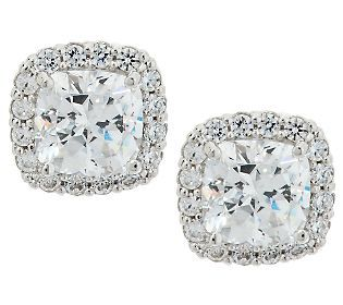 e5489245c diamonique epihhany halo earrings | Epiphany Diamonique 100-Facet Halo Stud  Earrings — QVC.com
