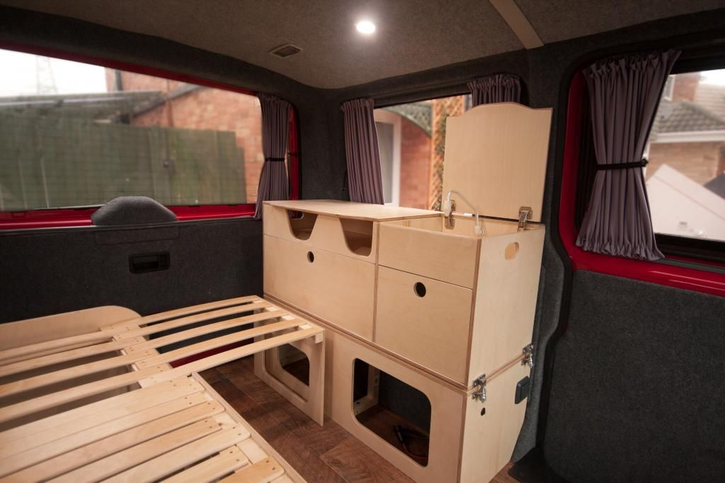 Alternative layout diy build page 3 vw t4 forum vw for Campervan kitchen ideas