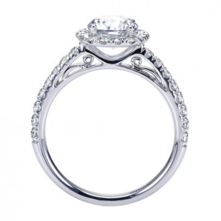 Really Pretty Side Profile On This Round Halo Engagement Ring Too Diamond Engagement Ring Simple Round Diamond Engagement Rings Halo Favorite Engagement Rings