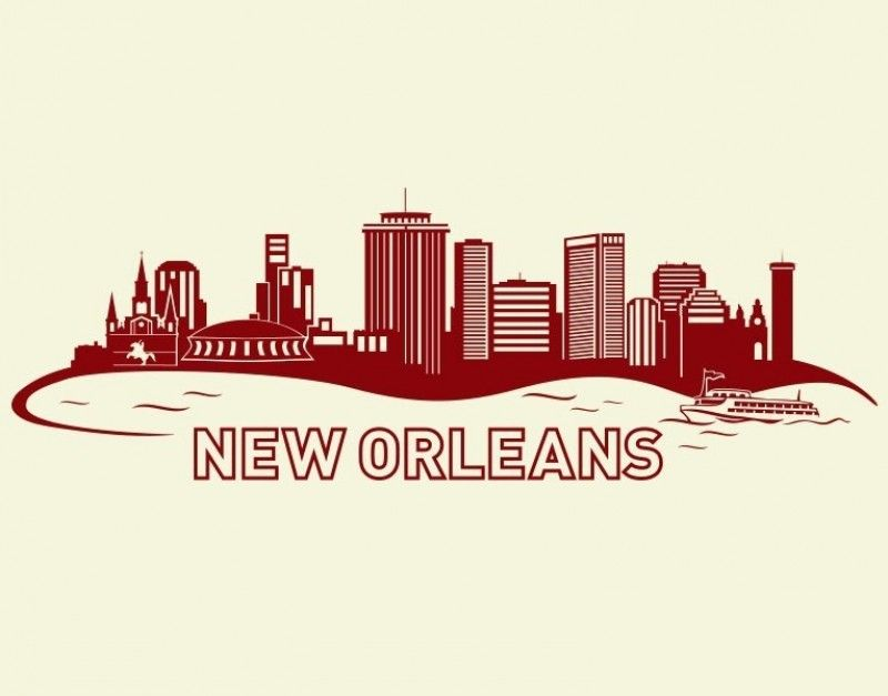 New Orleans City Skyline Wall Decal New Orleans Skyline New Orleans Tattoo New Orleans