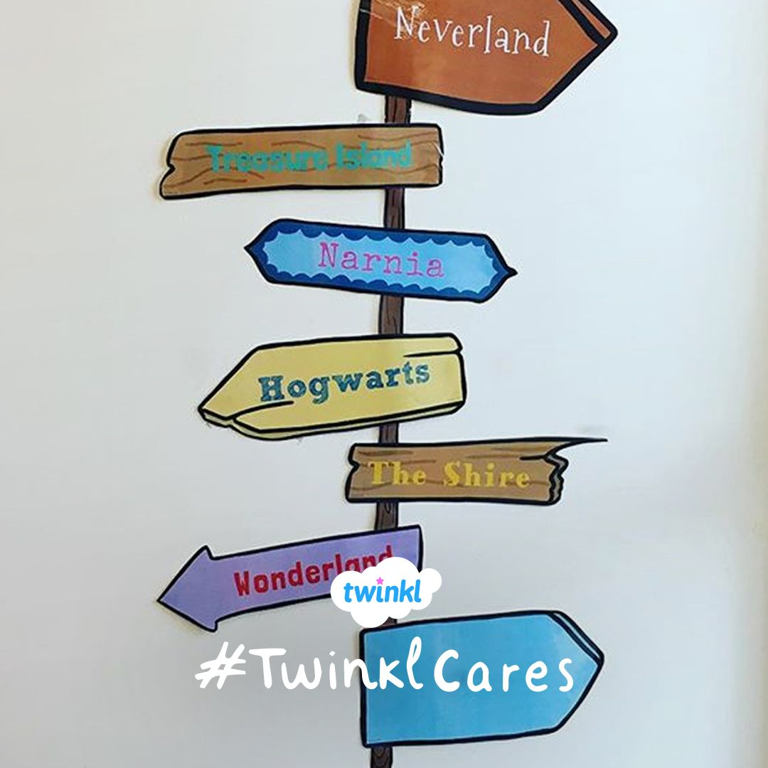 The Twinkl Story Sign Post Would Look Great In Your Reading Corner Sign Post Reading Corner Corner Display
