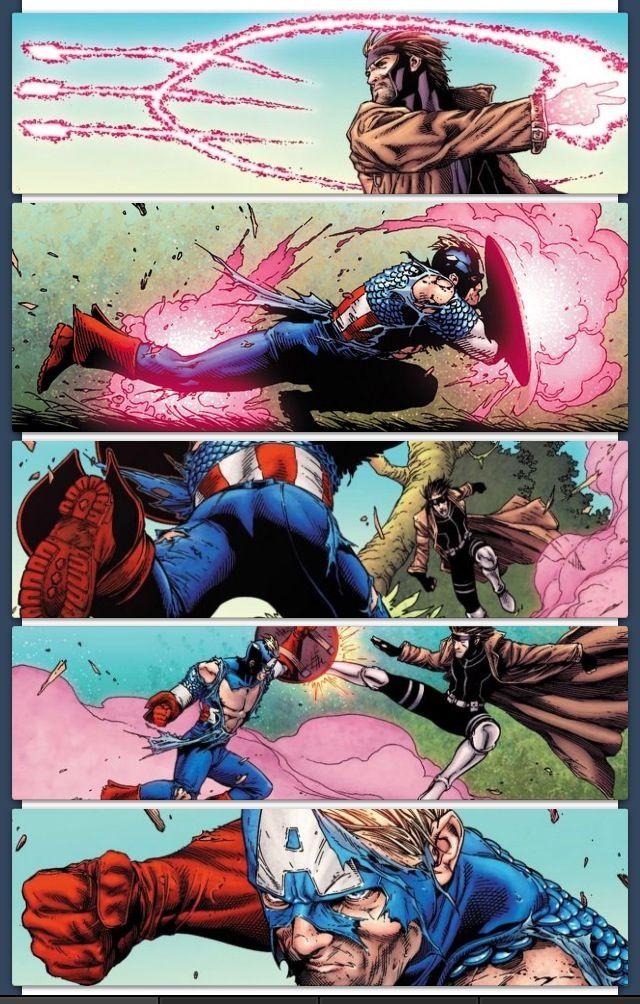 Nabokoko Captain America Vs Gambit Avengers Vs X Men Versus 2 Marvel Comic Character Gambit Marvel Superhero Comic