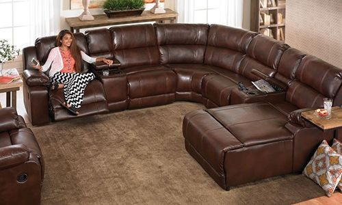 This Over Stuffed Sectional Sofa Features Built In Storage