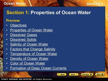 Section 1 Properties of Ocean Water> in 2020 Carbon