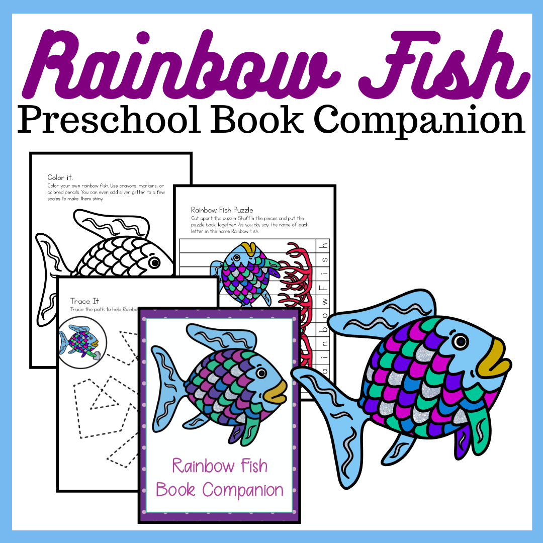 Rainbow Fish Book Printables In