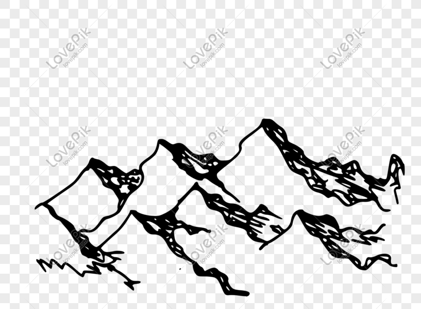 Keren 30 Gambar Gunung Kartun Hitam Putih Lukisan Cat