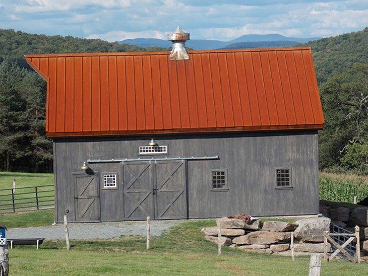 Corten Standing Seam. Rusted Standing Seam In Corten Or Bare Steel at CortenRoofing.com