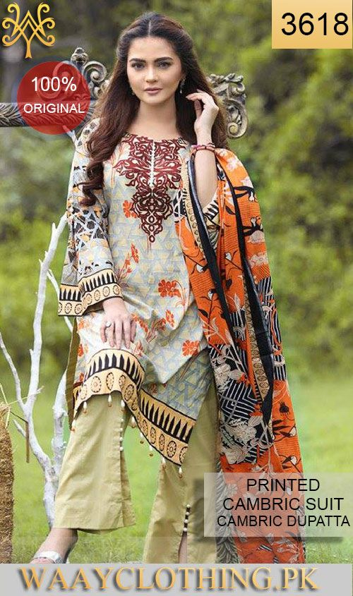 WYAC 3618   PRINTED ORIGINIAL 3PC CAMBRIC SUIT With CAMBRIC