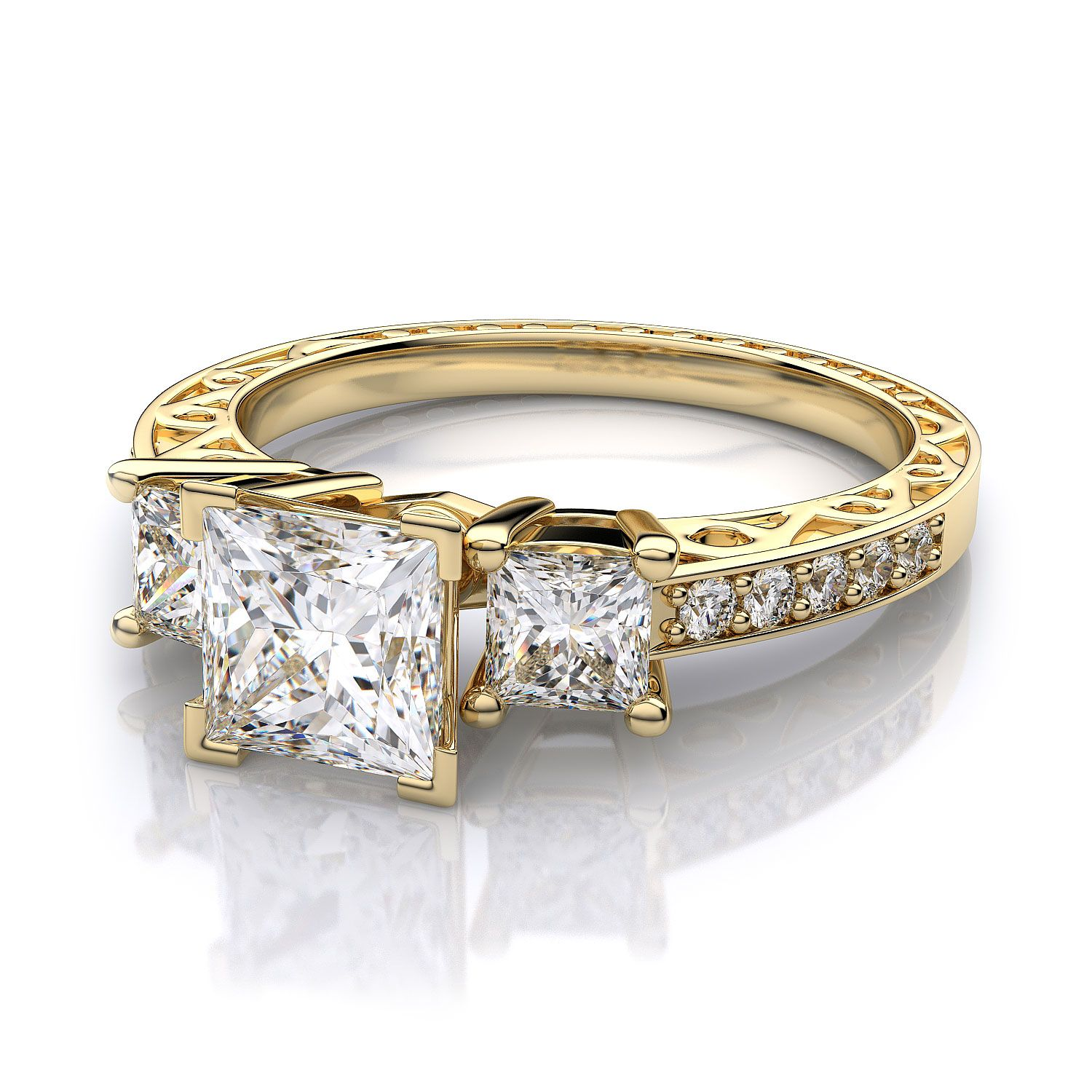 engagement gold y products rings prong cathedral ring solitaire wedding ellip yellow
