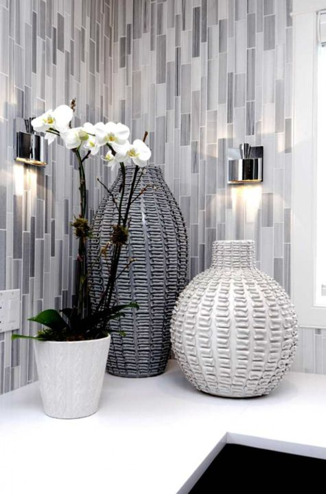 i do have this thing about grey i love the wicker and the tiles gray bathroom decorgrey - Bathroom Accessories Grey
