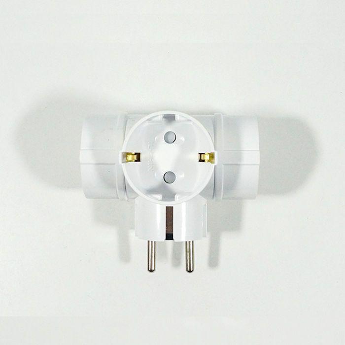 Dk Korea Multi Outlets 3 Way T Type Plug Converter 220v 250v 16a Wall Power Plugs Wall Multi