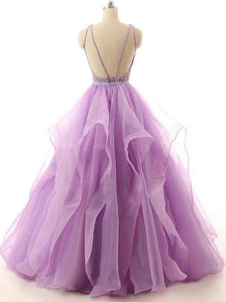 Sheergirl prom dresses lilac lace beaded plus size prom dresses long