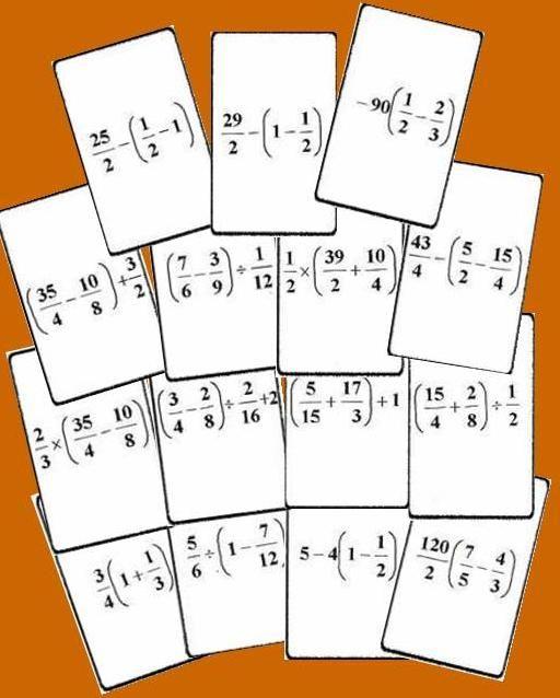 Bingo Matemático De Operaciones Con Fracciones Nivel Ii Operaciones Con Fracciones Fracciones Bingo De Fracciones