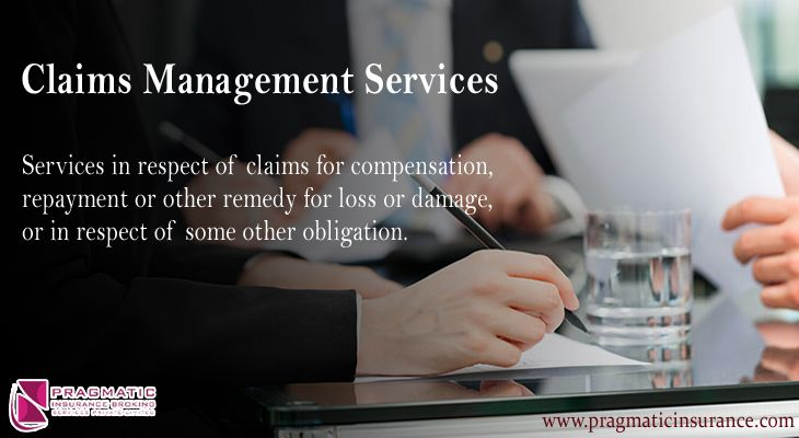 Claims management services services in respect of claims
