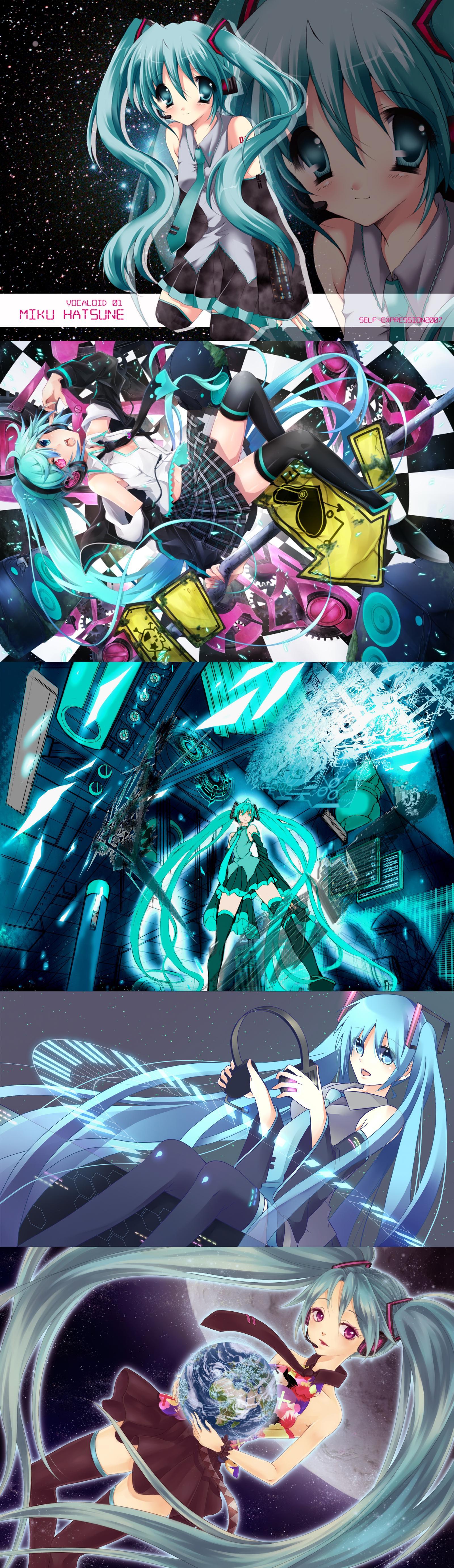 Hatsune Miku Headphone Anime wallpapers Download 960