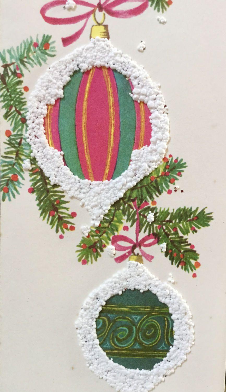 RARE Christmas Card, Unused Christmas, Vintage Snow Gleam Christmas ...