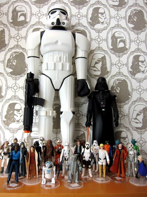Star Wars Wallpaper! Imperial Forces Wall Covering by Brian Flynn of Super 7