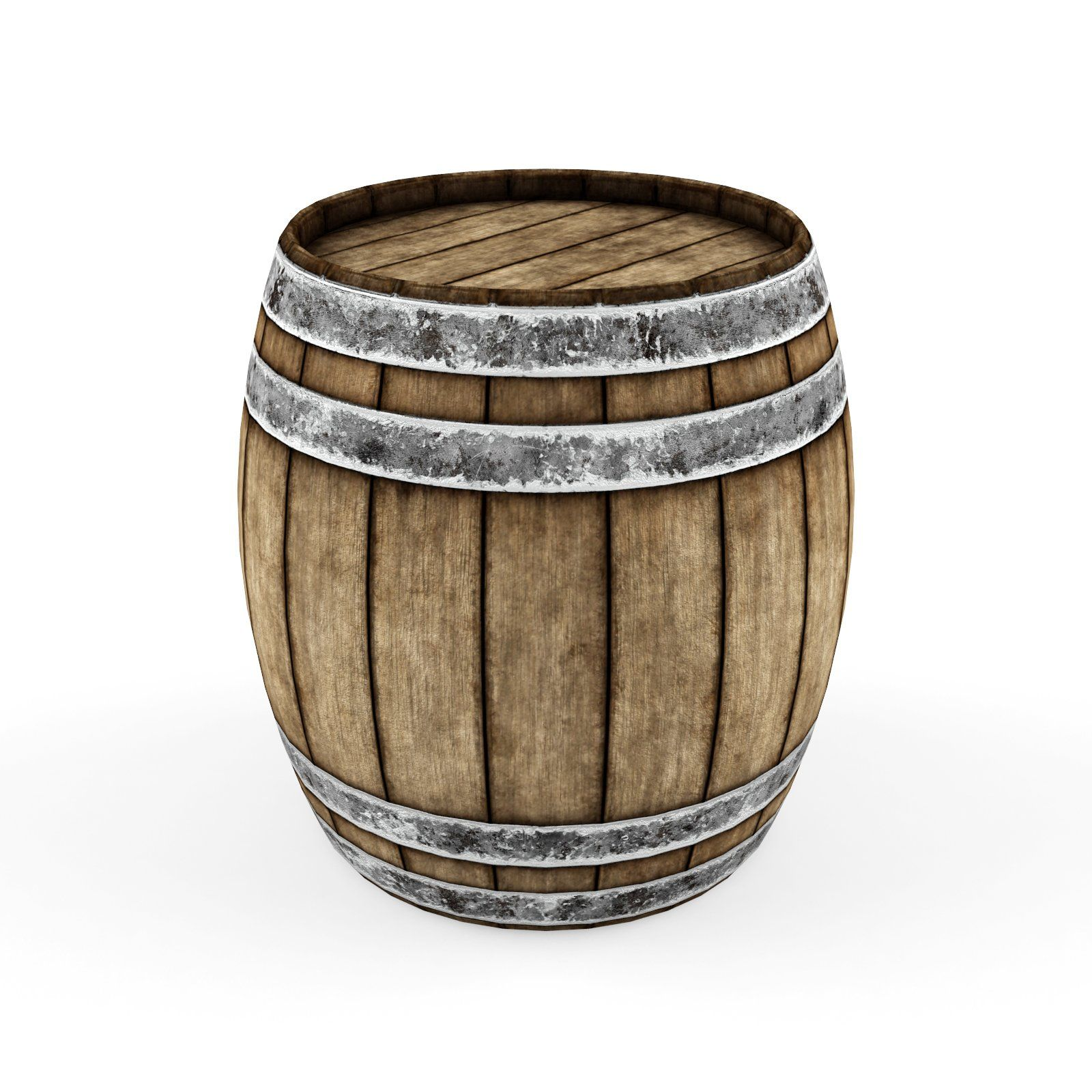 Lowpoly Model Old Wooden Barrel With Images Wooden Barrel