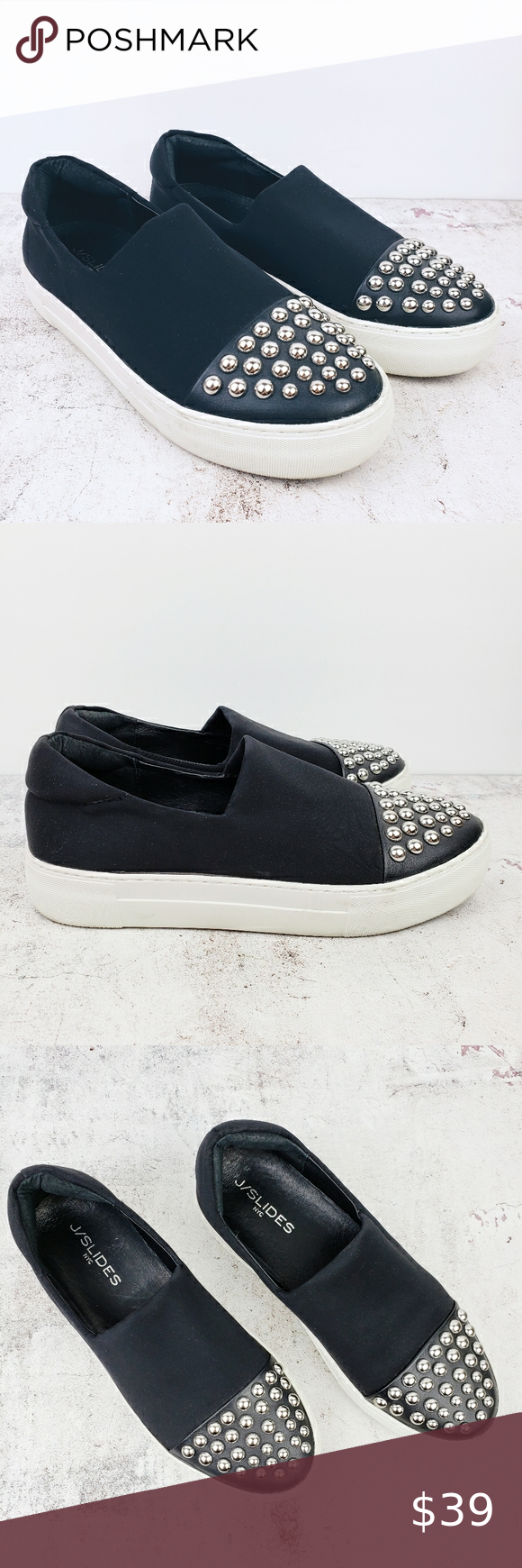 Anthro J Slides Nyc Loafers Slip On Sneakers Studs In 2020 Slip On Sneakers Sneakers Anthropologie Shoes