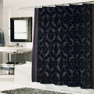 Regal Shower Curtain Brown Black Black Shower Curtains Shabby