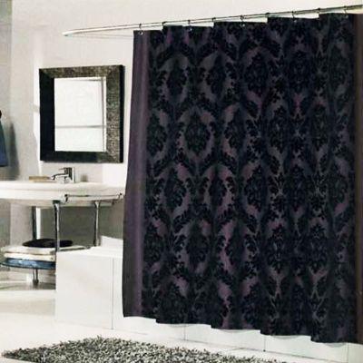 regal shower curtain brown black