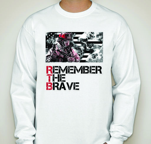 Remember The Brave - Unisex Long Sleeve Firefighter Patriotic T-Shirt