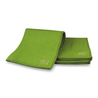 mu kitchen waffle dish cloths set of 3 in grass   products